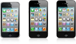 iPhone 3GS, iPhone 4, iPhone 4S