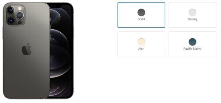 iPhone 12 Pro Renk Seçenekleri